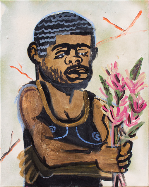 , 'Man with Flower,' 2017, Thierry Goldberg Gallery