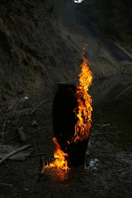 , 'Void-Wooden Pot: the Documentation of Firing 005,' 2013, SCAI The Bathhouse