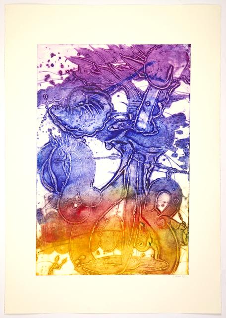 , 'Bouquet (Sunflower, Yellow, Indigo, Violet, Red),' 2019, Manneken Press