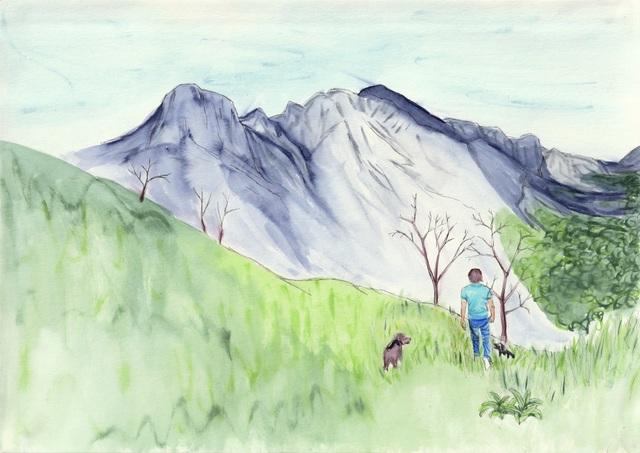 , 'Gerald hiking,' 2018, Kolja Kramer Fine Arts