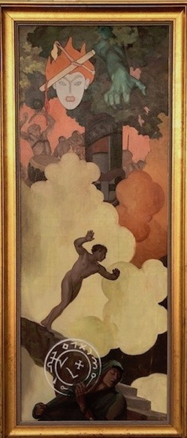 R. H. Ives Gammell, 'Original Study for Plate VI Down Titanic Glooms of Chasmed Fears', 1950's, Fine Art Acquisitions