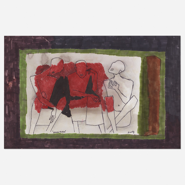 M. F. Husain, 'Wounded Shadows', 1981, Wright