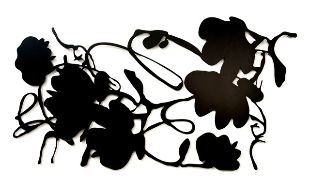 Donald Sultan, 'Black Lantern Flowers', 2016, Sculpture, Painted aluminum, Meyerovich Gallery