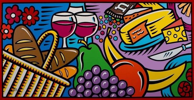Burton Morris, 'Still Life with Bread and Wine', 1998, Denis Bloch Fine Art