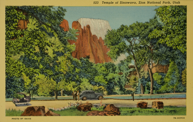 , 'Temple of Sinawava, Zion National Park, Utah,' ca. 1940, George Eastman Museum
