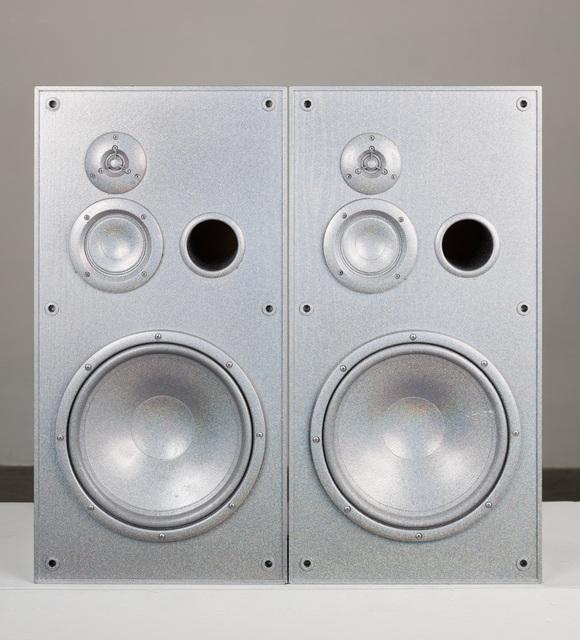 , 'Untitled (Medium Silver Speakers Set),' 2019, Charlie James Gallery