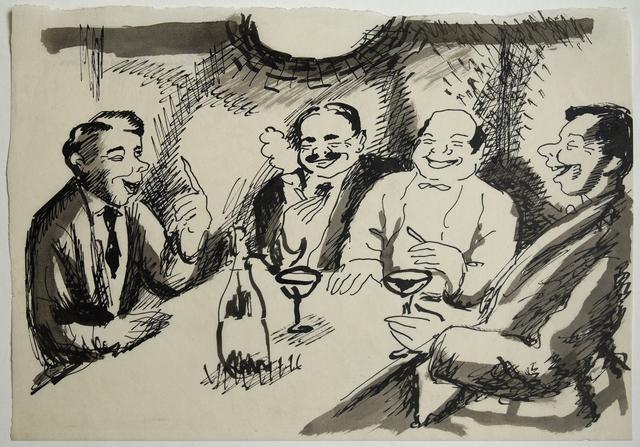 , 'Stammtischrunde,' 1913, Beck & Eggeling