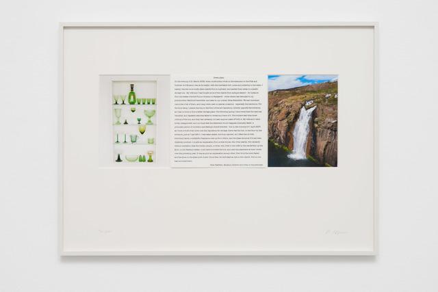 Hreinn Fridfinnsson, 'Green Glass', 2020, Mixed Media, Framed photographs and text, Galerie Nordenhake