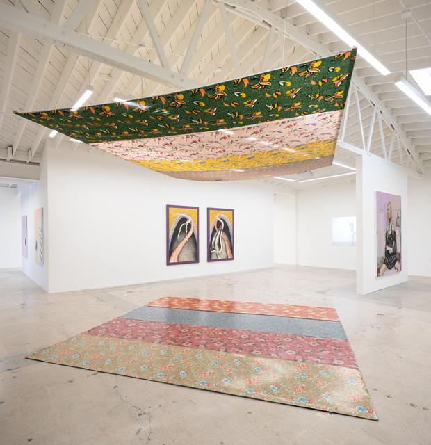 Tina Girouard, 'Sky Above, Earth Below', 1974, Installation, Solomon's Lot fabrics, Linoleum, Anat Ebgi