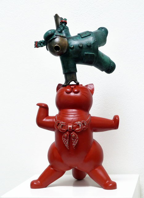 , 'Lacky Cat - Red  招财猫 - 红猫,' 2015, Linda Gallery
