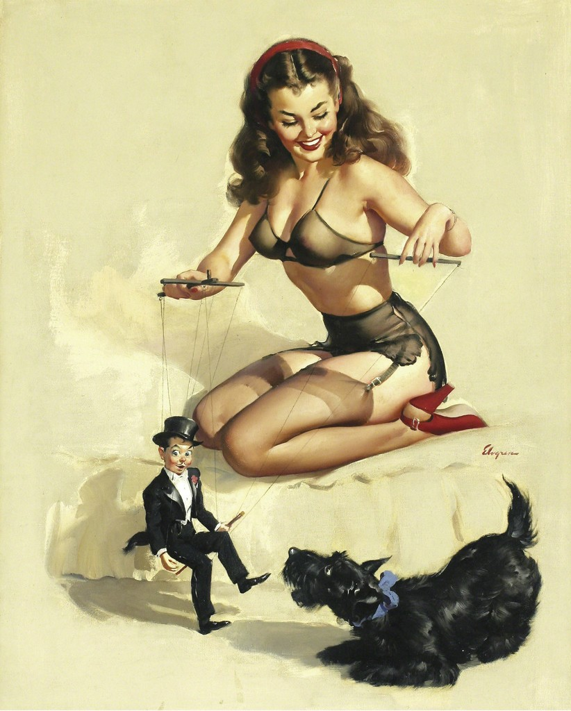 Gil Elvgren | They're Easy to Handle If You Know How (She makes ...