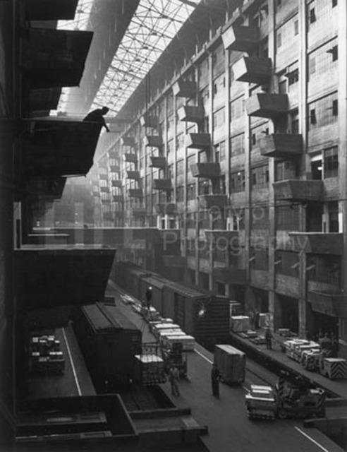 Andreas Feininger, 'Warehouse Dock, Brooklyn', 1948, Photography, Silver Gelatin Print, Contessa Gallery