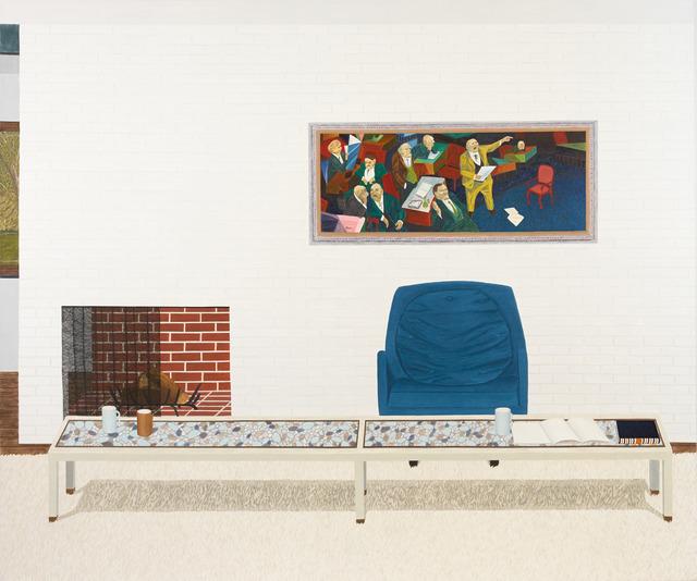 Becky Suss, 'Living Room (blue chair)', 2013, Fleisher/Ollman