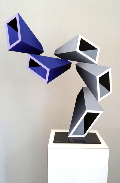 , '5 two-toned elongated boxes illusion sculpture ,' 2016, ARDT Gallery