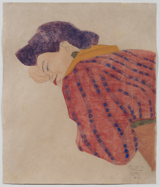 , 'Liegendes Mädchen mit roter Bluse (Reclining Girl in a Red Blouse),' 1908, DICKINSON