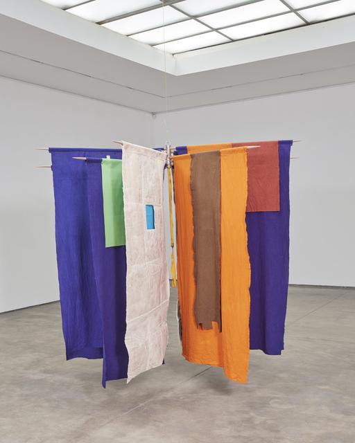 Alberto Casari, 'Guru Ji', 2018, Other, Manually dyed fabrics and industrial fabrics, wooden sticks, Wu Galeria