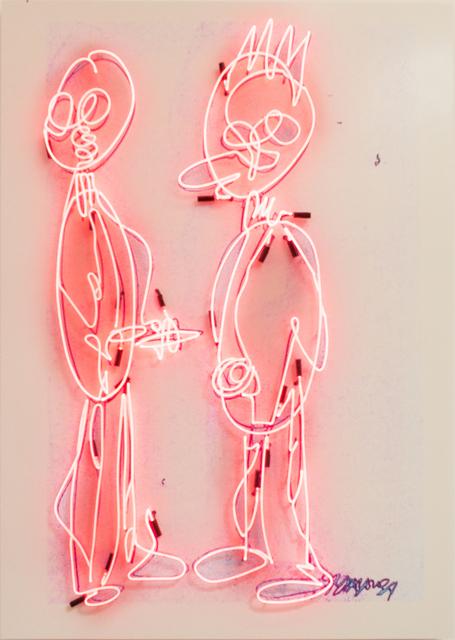 , 'Graffiti Neon (Red),' 2018, Richard Taittinger Gallery