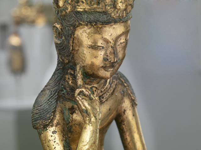 , 'Pensive bodhisattva (Detail),' mid-7th century, The Metropolitan Museum of Art