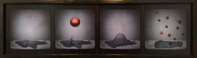 , 'Sheeted Figure: Dream with Red Spheres,' 2017, JAYJAY