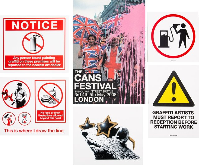 After Banksy, 'The Cans Festival Booklet and stickers', 2008, Heritage Auctions
