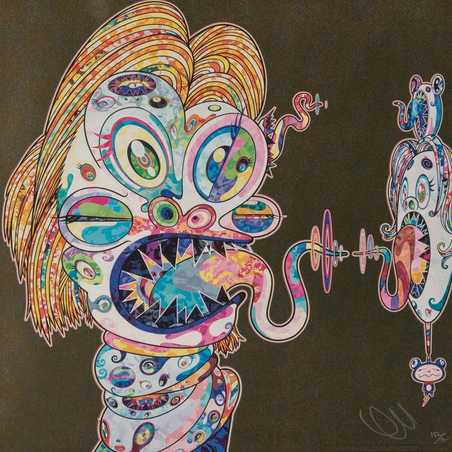Takashi Murakami, 'Homage to Francis Bacon (Study for Head of Isabel Rawsthorne and George Dyer) (two works)', 2016, Heritage Auctions