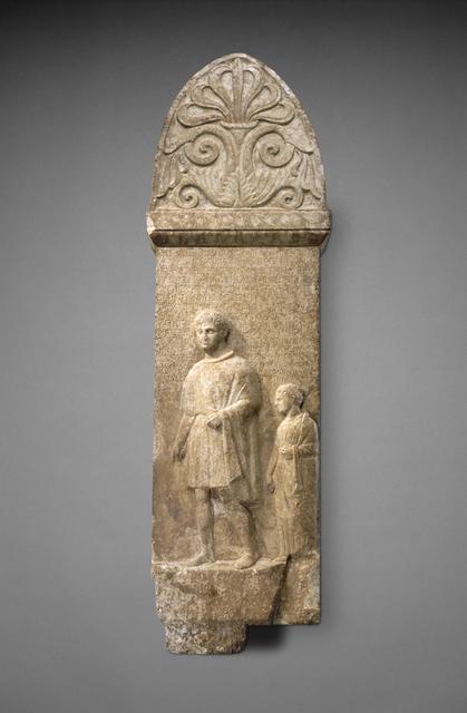 'Grave Stele of Poseides', ca. 275 BCE, J. Paul Getty Museum
