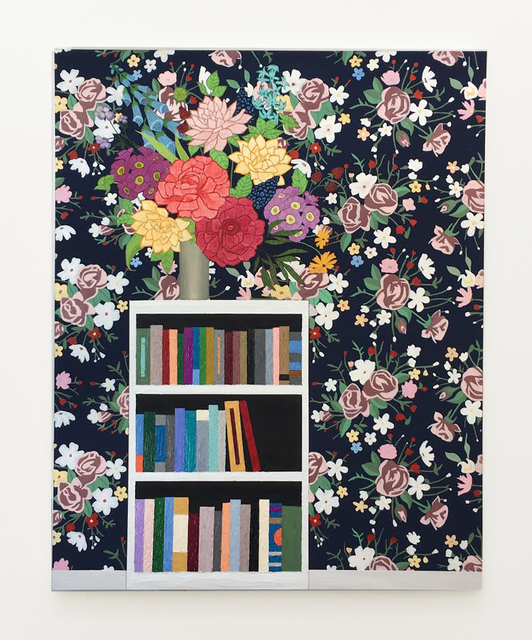, 'Flowers on Bookshelf,' 2017, Anat Ebgi