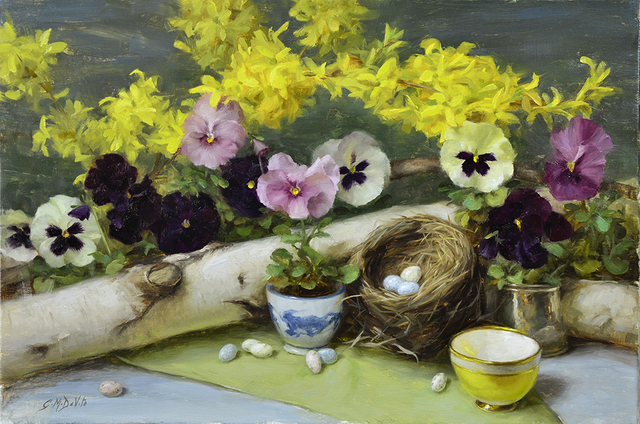 Gracie Devito, 'Forsythia and Pansies', Anderson Fine Art Gallery