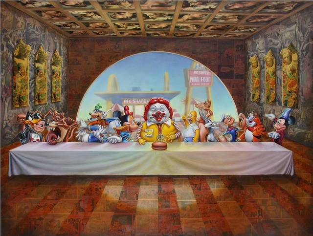 Ron English, 'Super Supper    ', 2010, Dope! Gallery