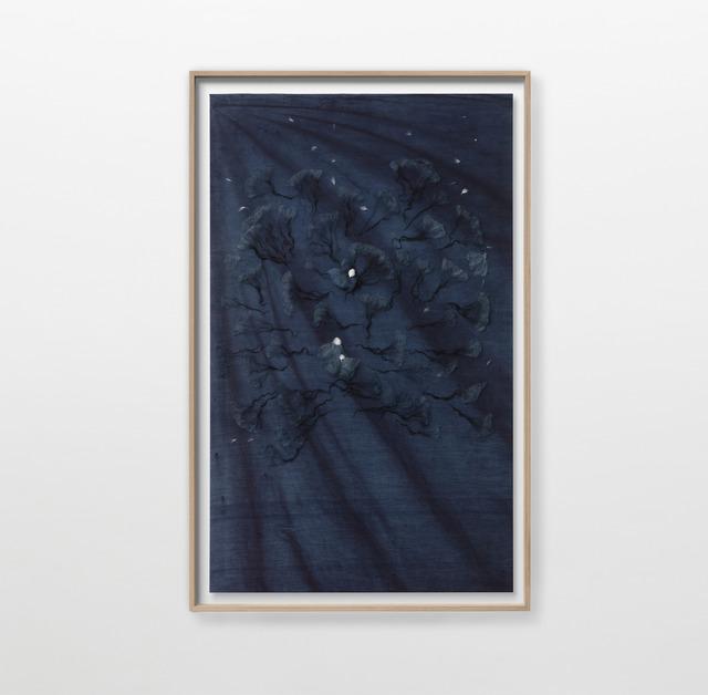 Julie Lænkholm, 'Untitled (4)', 2020, Textile Arts, Cotton, wool and yamato dye on silk, Galleri Nicolai Wallner