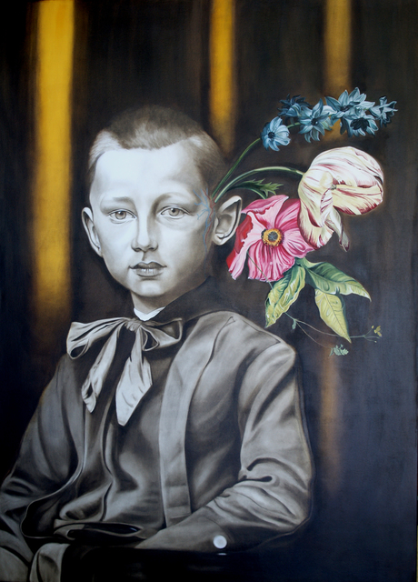 , 'Boy with Flowers for Brains #1,' 2016, Winchester Galleries