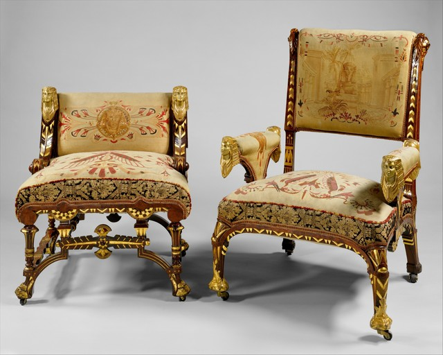 Attributed to Pottier and Stymus Manufacturing Company, 'Armchair', ca. 1870–1875, The Metropolitan Museum of Art