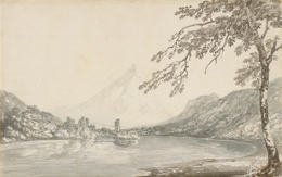 J. M. W. Turner, 'On the Aar between Unterseen and Lake of Brienz', 1794-1797, Indianapolis Museum of Art at Newfields