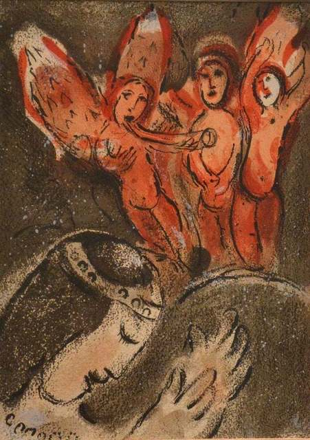 Marc Chagall, 'Sarah and the Angels', 1960, Wallector