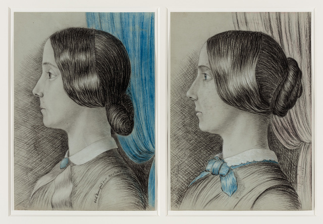 , 'Pair of courtship drawings of Julia,' 1852 and 1853, Ricco/Maresca Gallery