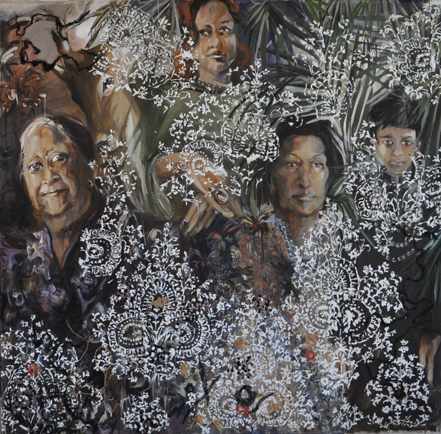 , 'Hyderabad family part 2,' 2009, Wide Painting