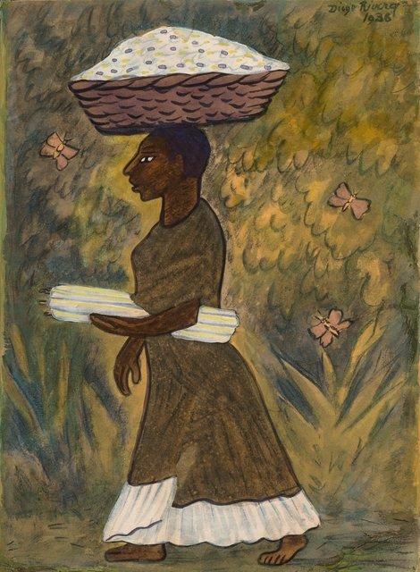Diego Rivera, 'Tehuana con velas y canasta', 1938, Heritage Auctions
