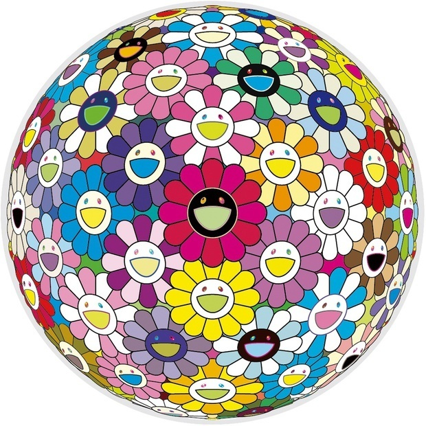 Takashi Murakami, 'Flowerball: Multicolors', 2014, Print, Offset lithograph, Vogtle Contemporary