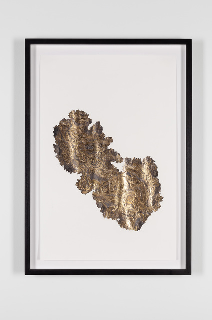 Santiago Reyes Villaveces, 'Fever Narino (Cubicara) ', 2019, Drawing, Collage or other Work on Paper, Graphite, 24k gold and gold leaf on paper., Emerson Dorsch