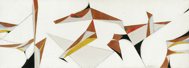 Paul Kallos, 'Abstract Composition', 1950, Painting, Oil on canvas, Kalman Maklary Fine Arts