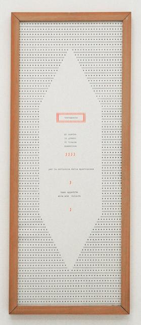 , 'Testamento,' 1982, Tiziana Di Caro