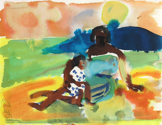 , 'MOTHER AND CHILD ON SHORE,' 1979, Jerald Melberg Gallery