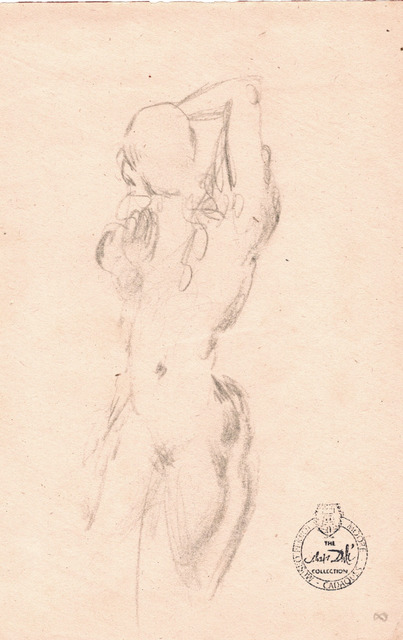 Salvador Dalí, 'Nu Féminin (front and back view - 2 separate drawings on 2 sheets)', ca. 1963, Fairhead Fine Art Limited