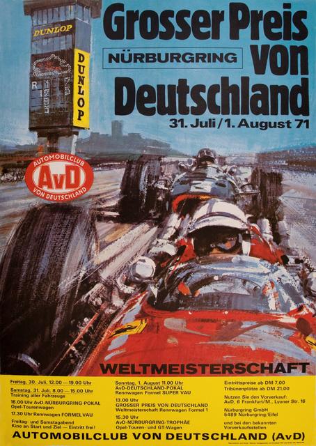 , 'Nurburgring Grand Prix of Germany 1971,' 1971, Omnibus Gallery