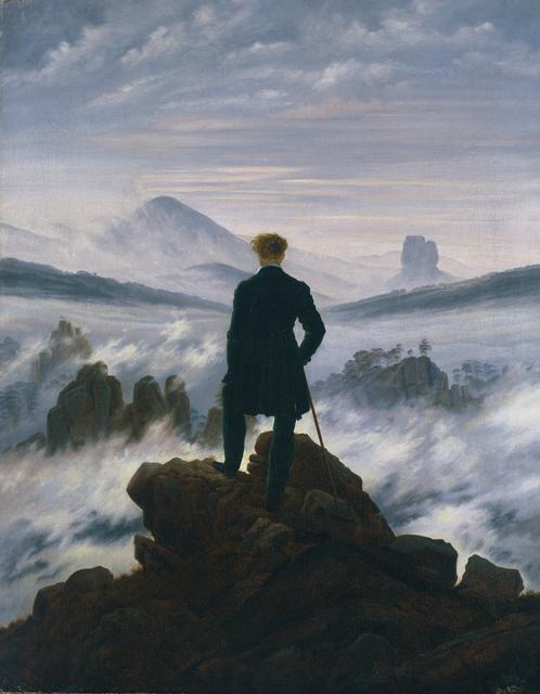 , 'Wanderer above the Sea of Fog,' ca. 1817, Alte Nationalgalerie