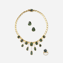 Forma Livre necklace, ring and earrings
