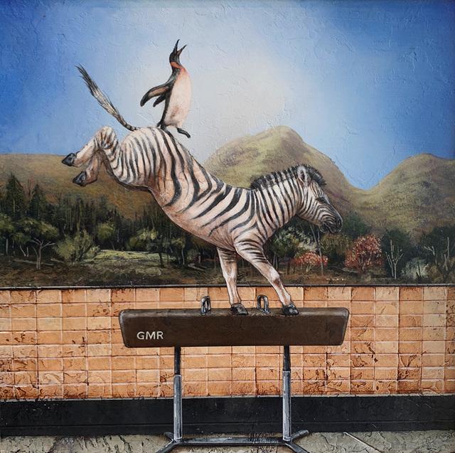 Tyson Grumm, 'Zebra Striped Pommel Horse', 2019, Sue Greenwood Fine Art