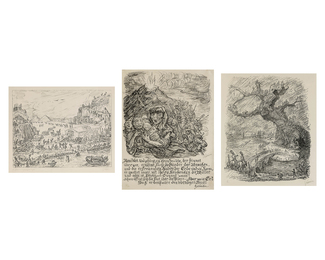 A group of three prints