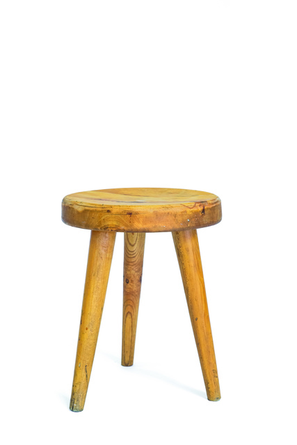 Charlotte Perriand, 'Courchevel stool in oak', vers 1970, Leclere