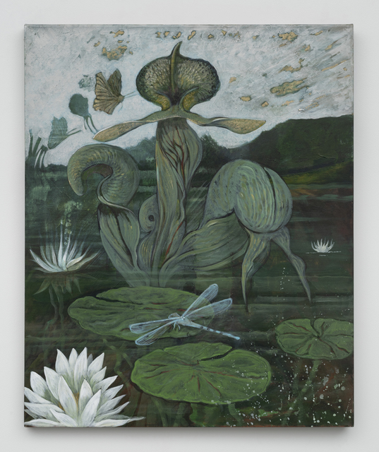Ellen Lanyon, 'An Enigmatic Lotus', 2009, Painting, Acrylic on canvas, Richard Gray Gallery